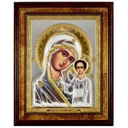 (RS) Казанская икона Божьей Матери (квадрат, дерево, стекло)