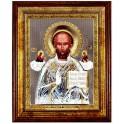 (RS) Икона Николая Чудотворца (квадрат, дерево, стекло)
