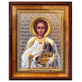 (RS) Икона Пантелеймона Целителя (квадрат, дерево, стекло)