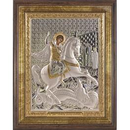 (RS) Икона Георгия Победоносца (квадрат, дерево, стекло)