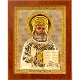 (RS) Икона Святителя Луки Войно-Ясенецкого (квадрат, дерево)